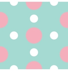 Seamless Pattern with circle white and pink dots vector image