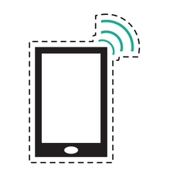Smartphone internet connection digital device dot vector