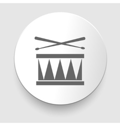 Snare drum icon vector image