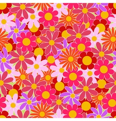 Summer colorful flowers seamless pattern vector