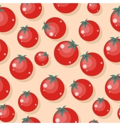 Tomatoes Seamless Pattern in Flat Design vector image