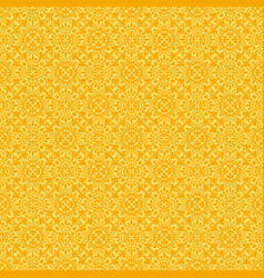 yellow flower seamless pattern background vector image