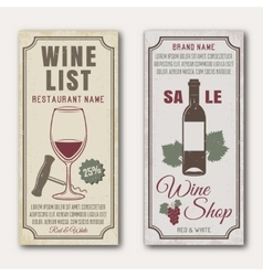 Wine vertical banners vector