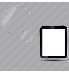 Abstract digital tablet vector