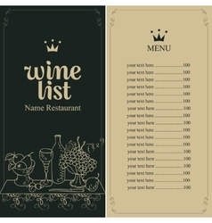 Wine menu list vector