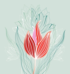Graphic flowers vector