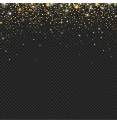Gold snow glitter particles confetti vector