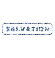 Salvation textile stamp vector