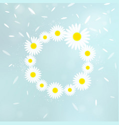 Wreath of chamomiles vector
