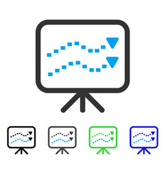 Dotted trends board flat icon vector