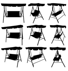 Set of different garden swings vector