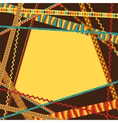 Ethnic abstract geometric background from vector image