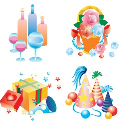 party elements vector image