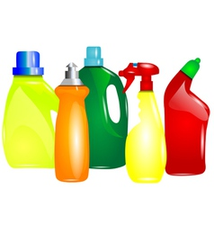 Multicolor cleaning products vector