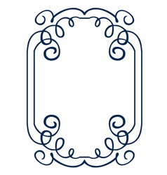 Frame with swirls drawing hands vector