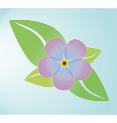 Leaves with a flower vector