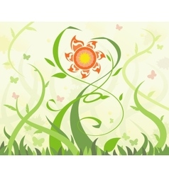 Abstract flowers 8 vector