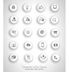 Social network life concept with cloud reference vector image