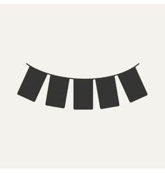 Flat in black and white mobile application garland vector