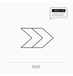 Right arrow icon forward sign vector