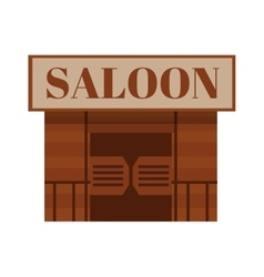 Conceptual cartoon western saloon representing mix vector