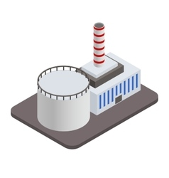 Isometric industrial factory buildings icon vector