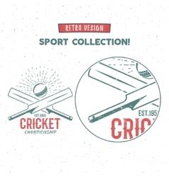 Retro cricket logo icon design Vintage vector image