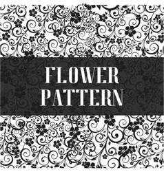 Seamless flower pattern in black and white style vector image