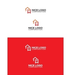bookmark house logo vector image vector image