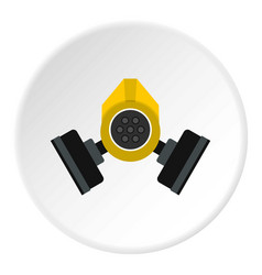Gas mask icon circle vector