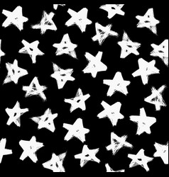 Grunge stars pattern brush strokes vector