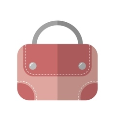 Hand bag isolated Color flat icon and object vector image