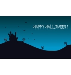 Happy halloween backgrounds castle vector