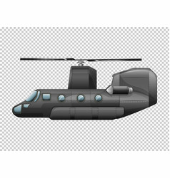 Helicopter on transparent background vector