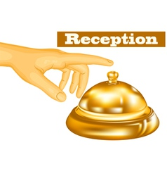 hotel receptionist vector image