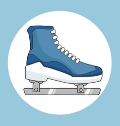 Ice skate sport icon vector