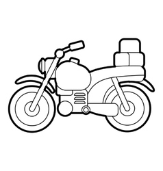 Motorcycle icon outline style vector image vector image