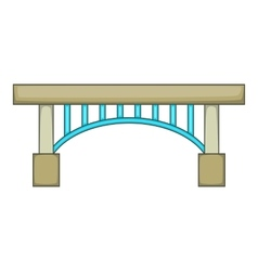 Narrow bridge icon cartoon style vector