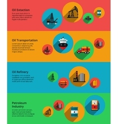 Oil petrolium industry production vector