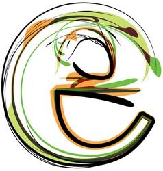 Organic Font vector image