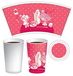 paper cup of tea vector image