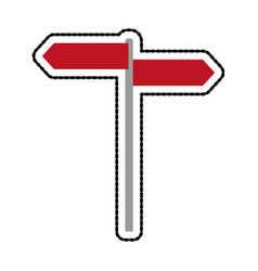 Red road or street sign icon image vector