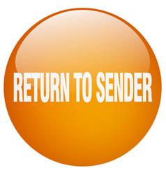 Return to sender orange round gel isolated push vector