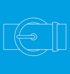 Round buckle icon outline style vector