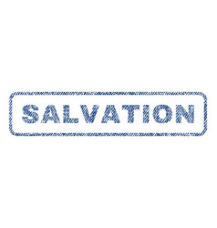 Salvation textile stamp vector