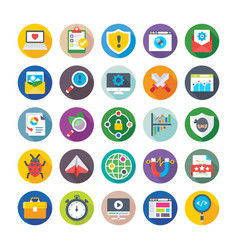 seo and digital marketing icons 7 vector image