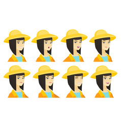 set of farmer characters vector image