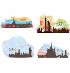 Set of skylines vector