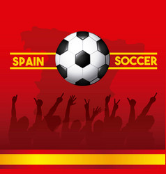 Spain soccer classic icons of spanish culture vector
