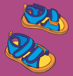 summer kid shoes vector image vector image